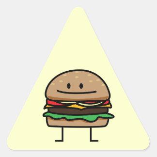 Happy Hamburger Triangle Sticker