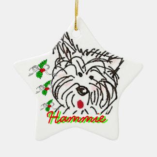 Happy Hammie-kah Ceramic Ornament