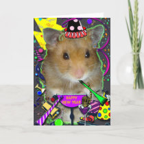 Happy Hamster New Year Card