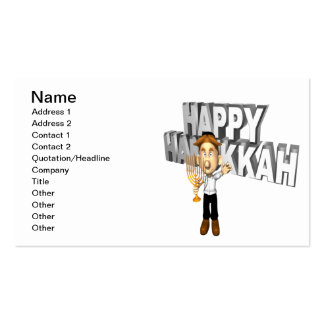 Happy Hanakkuh Double-Sided Standard Business Cards (Pack Of 100)