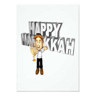 Happy Hanakkuh 5x7 Paper Invitation Card