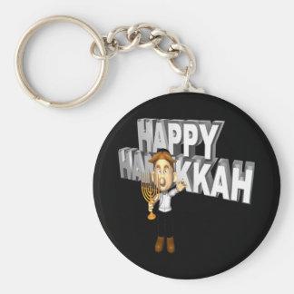 Happy Hanakkuh Basic Round Button Keychain