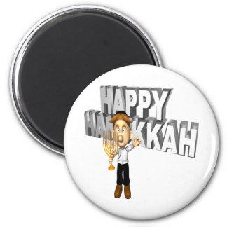 Happy Hanakkuh 2 Inch Round Magnet