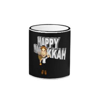 Happy Hanakkuh Ringer Coffee Mug