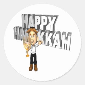 Happy Hanakkuh Classic Round Sticker