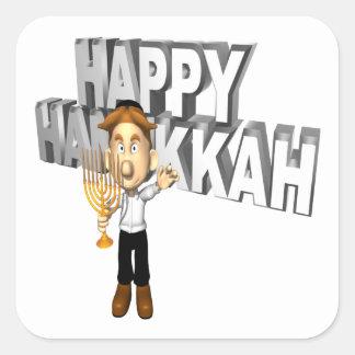 Happy Hanakkuh Square Sticker