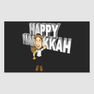 Happy Hanakkuh Rectangular Sticker