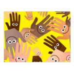 Happy Hands Wallpaper Post Cards