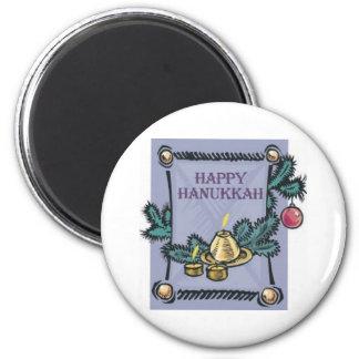 Happy Hannakah 2 Inch Round Magnet