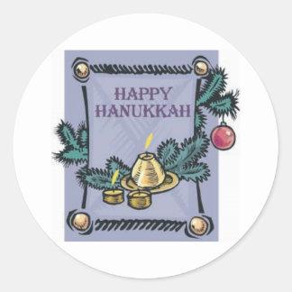 Happy Hannakah Classic Round Sticker