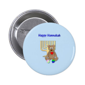 Happy Hannukah Pinback Button
