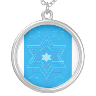 happy hannukah nckl 1 silver plated necklace