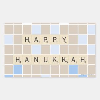 Happy Hannukah Rectangular Sticker