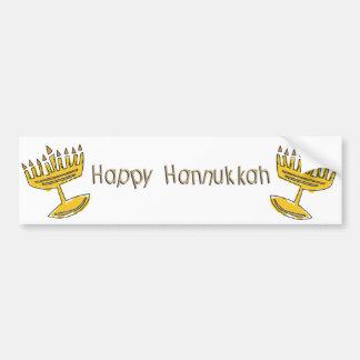 Happy Hannukkah Car Bumper Sticker