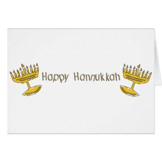 Happy Hannukkah Greeting Card