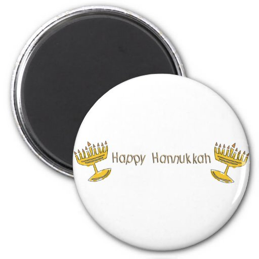 Happy Hannukkah Fridge Magnet