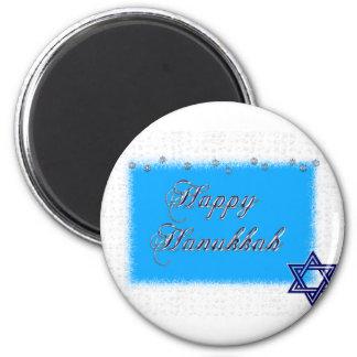 happy hannukkah star 5 2 inch round magnet