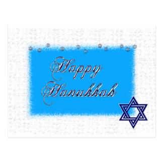 happy hannukkah star 5 postcard