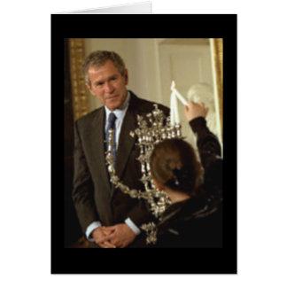Happy Hanukah from George W. Bush Card