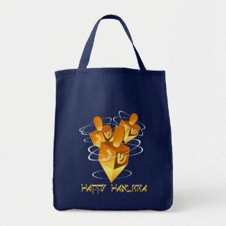 Happy Hanukka Dreidels Bag