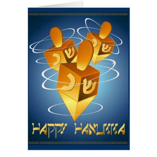 Happy Hanukka Dreidels Card