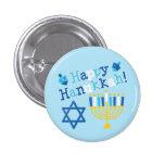 Happy Hanukkah 1 Inch Round Button