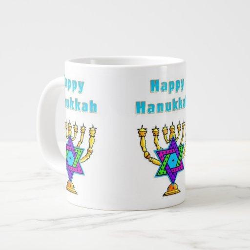 Happy Hanukkah 20 Oz Large Ceramic Coffee Mug
