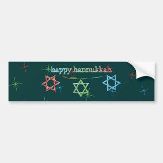 Happy Hanukkah – 3 Magen Davids Bumper Sticker