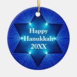 Happy Hanukkah Any Year & Name Ornament