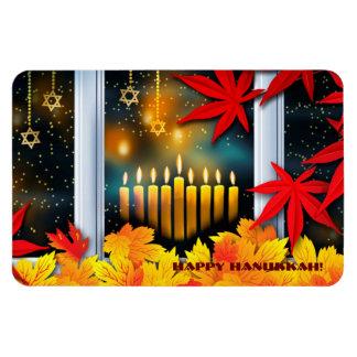 Happy Hanukkah! Autumn Leaves Design Magnet