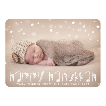 Aztec Themed Happy Hanukkah Aztec Script Holiday Photo Card