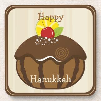 Happy Hanukkah Beverage Coaster