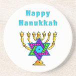 Happy Hanukkah Beverage Coasters