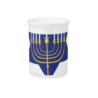 Happy Hanukkah Beverage Pitcher