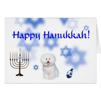 Happy Hanukkah Bichon frise Card