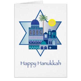 Happy Hanukkah Blue Cards