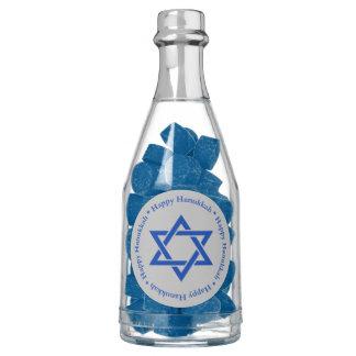 Happy Hanukkah, Blue Star of David on Matte Silver Gum
