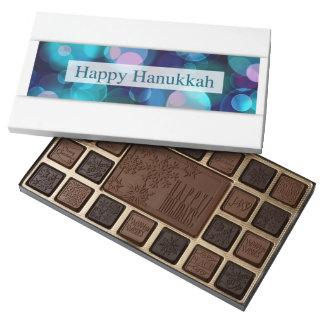 happy hanukkah (bokeh) 45 piece box of chocolates
