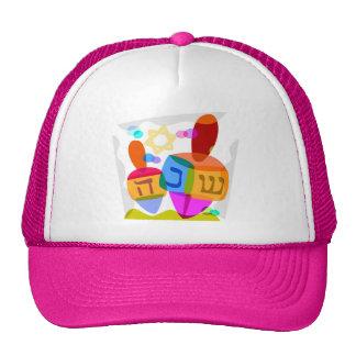 Happy Hanukkah Bright Dreidels Trucker Hat