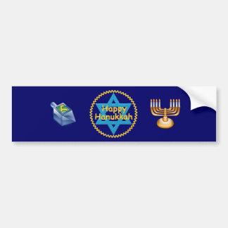 Happy-Hanukkah Bumper Sticker