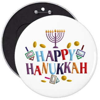 Happy Hanukkah Pin