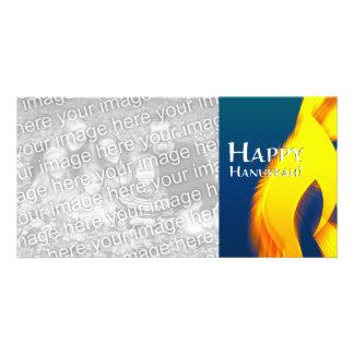 happy hanukkah (candleShine) Custom Photo Card
