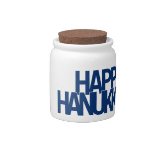 Happy Hanukkah Candy Dish