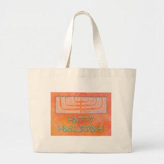 happy hanukkah canvas bag