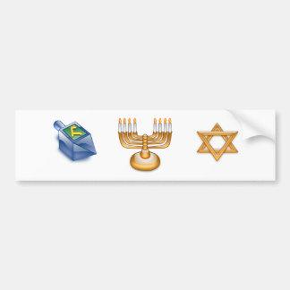 Happy Hanukkah Car Bumper Sticker