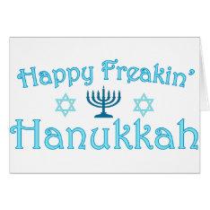 Happy Hanukkah Card at Zazzle