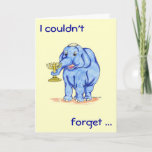 "Happy Hanukkah Card with Cute Elephant<br><div class=""desc"">Fun,  casual,  and happy card. Perfect for family,  friends,  co-workers,  and kids"
