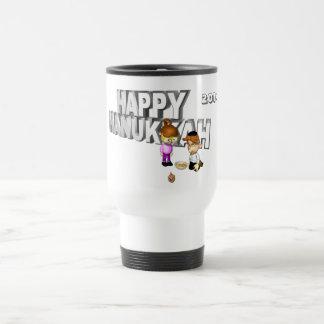 Happy Hanukkah Celebration - 15 Oz Stainless Steel Travel Mug