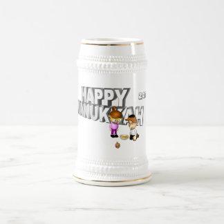 Happy Hanukkah Celebration - 18 Oz Beer Stein