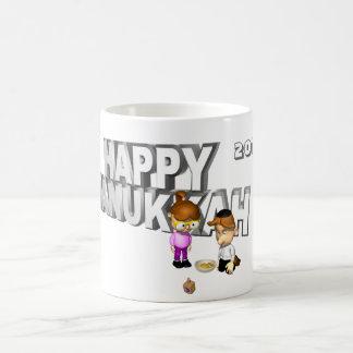 Happy Hanukkah Celebration - Classic White Coffee Mug